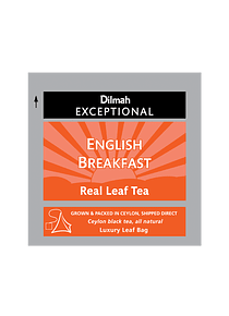 DILMAH EXCEPTIONAL ENGLISH BREAKFAST TE - 50 Un.