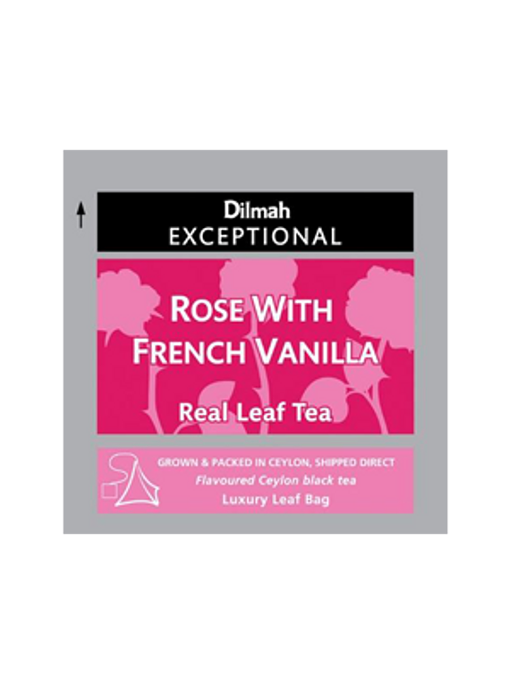 DILMAH EXCEPTIONAL FRENCH ROSE VANILLA TE - 50 Un.