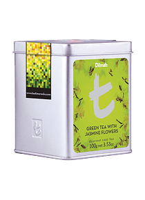 DILMAH LUXURY GREEN TEA WITH JASMINE FLOWERS CHÁ