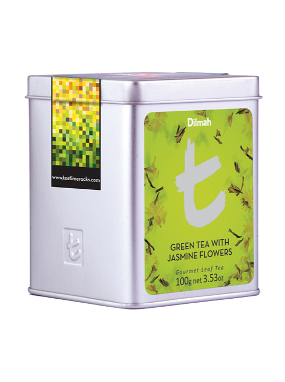 DILMAH LUXURY GREEN TEA WITH JASMINE FLOWERS TÉ