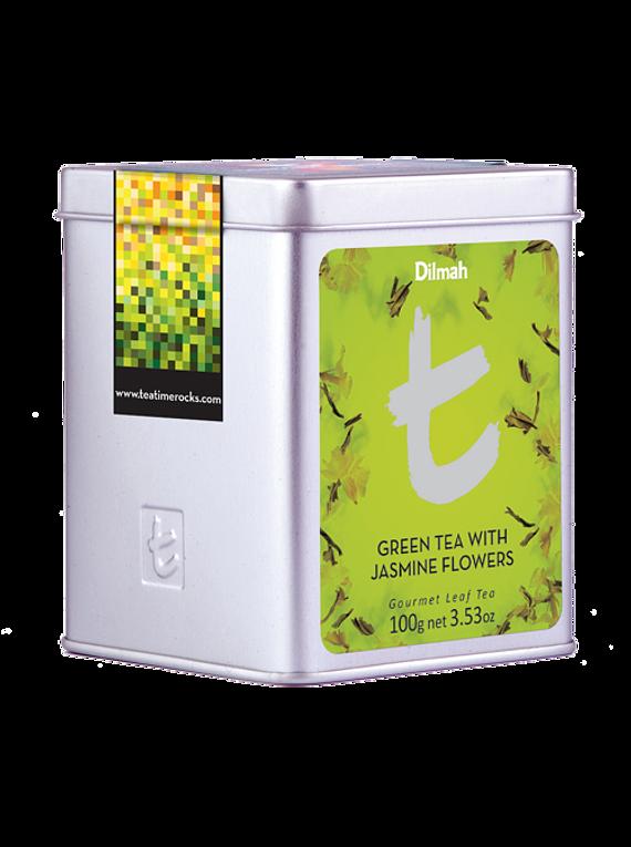 DILMAH LUXURY GREEN TEA WITH JASMINE FLOWERS TEA