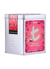 DILMAH LUXURY ROSE WITH FRENCH VANILLA CHÁ