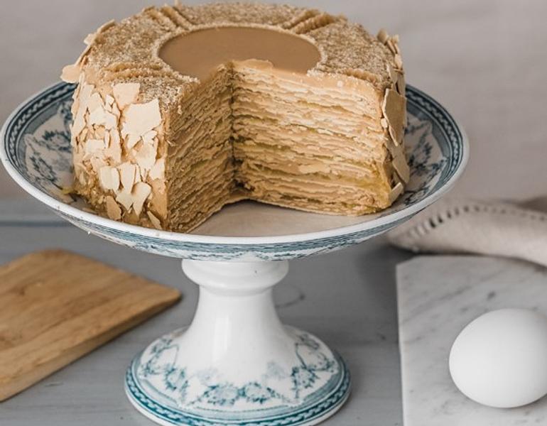 Torta Milhoja Manjar-Crema Pastelera