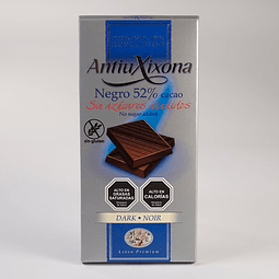 Chocolate 52% de cacao sin azúcar