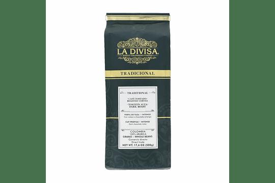 Café Divisa tradicional grano 500 gramos - Image 1