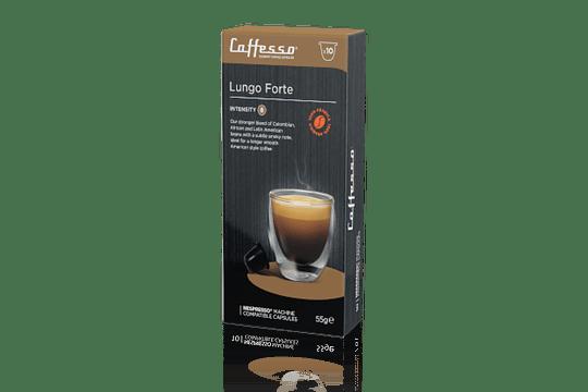 Cápsulas caffesso Lungo Forte (Nespresso)