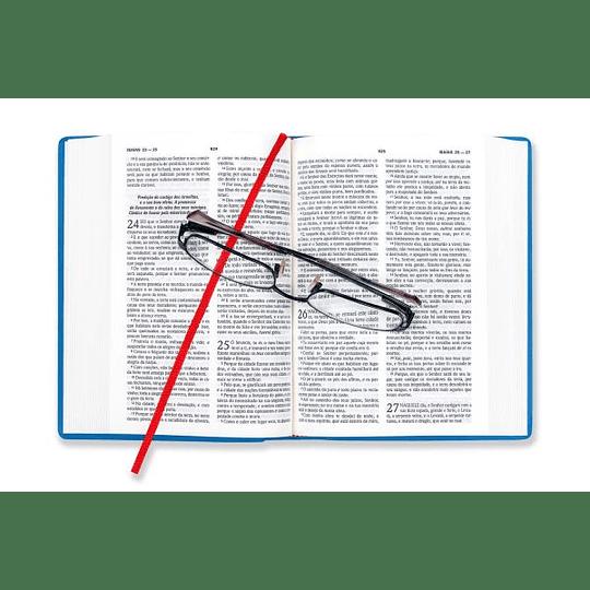Bíblia DN 42C - capa azul metalizado | Com concordância