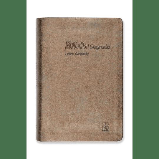 BÍBLIA DN64TILG – BRONZE | CAPA IMITAÇÃO CAMURÇA | LETRA GRANDE
