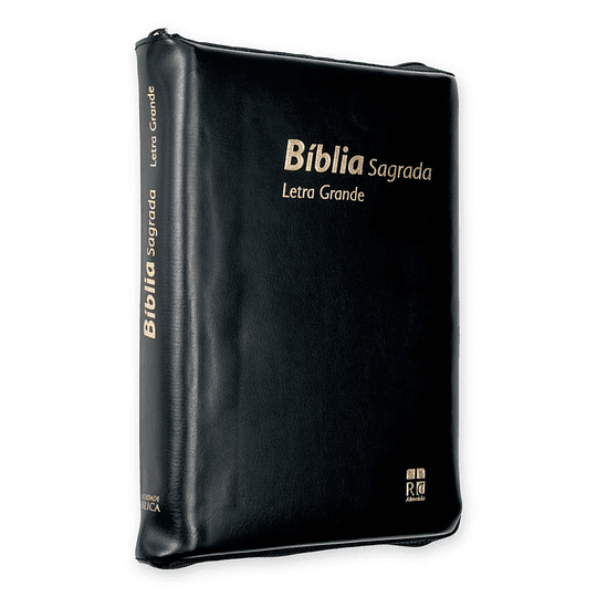 BÍBLIA DN62ZLG – PRETO | CAPA VINIL | C/FECHO | LETRA GRANDE