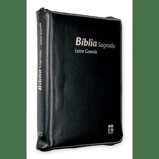 BÍBLIA DN62ZLG – PRETO   CAPA VINIL   C/FECHO   LETRA GRANDE