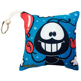 Chaveiro Almofada Smilinguido Quadrada Azul