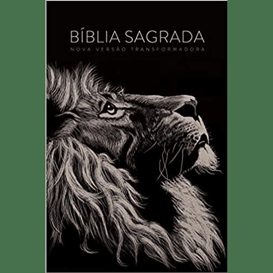 BÍBLIA NVT LG CAPA SOFT TOUCH - LION HEAD (Português) Capa dura