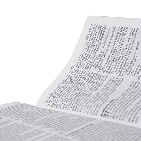 BÍBLIA SAGRADA NA85 | EDIÇÃO ESTREITA | LETRA GRANDE | BRANCA C/FLÔRE