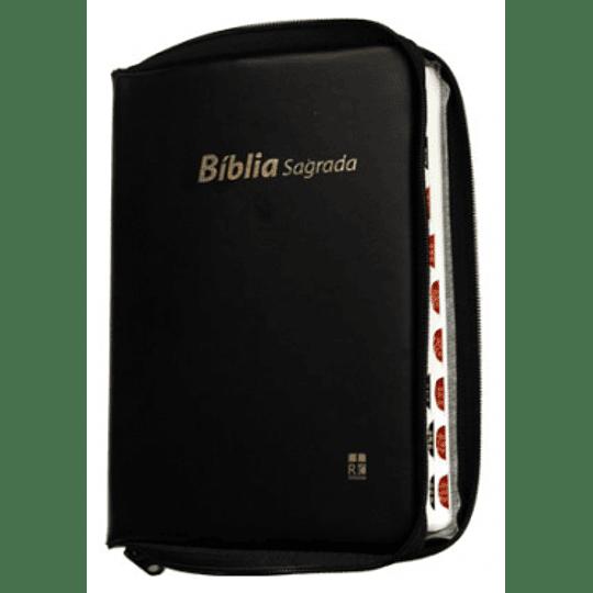 Bíblia DN 52ZTI Capa com fecho, cor preta e índice digital