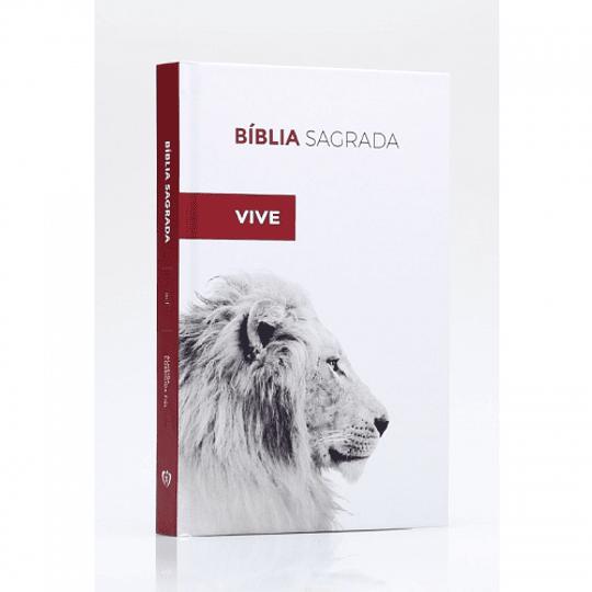 BÍBLIA SAGRADA ACF - CAPA DURA - LEÃO ELE VIVE