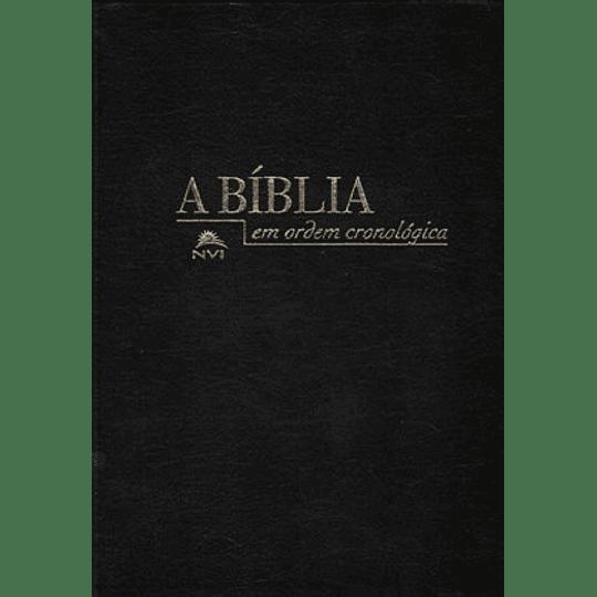 Bíblia NVI em Ordem Cronológica – capa luxo preta
