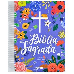 Bíblia Sagrada NVI Anote Espiral Azul