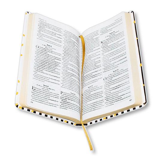 BÍBLIA KING JAMES FIEL 1611 CAPA SEMI LUXO CORAÇÃO LISTRADO