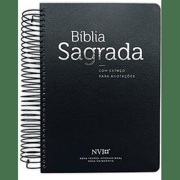 Bíblia Sagrada Anote NVI Capa Espiral Preta