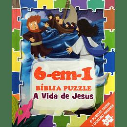 Bíblia puzzle 6 em 1 A vida de Jesus