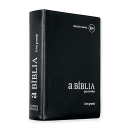 Bíblia para Todos com letra grande Capa em vinil e beiras brancas