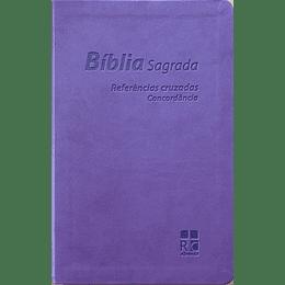 Bíblia Sagrada com letra grande - DN054C | LILÁS | REFERÊNCIAS CRUZADAS | CONCORDÂNCIA