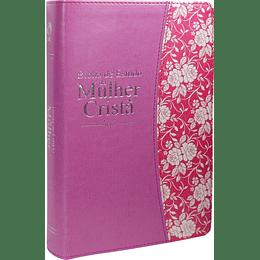 Bíblia de estudo da mulher cristã Capa flexível e beiras douradas