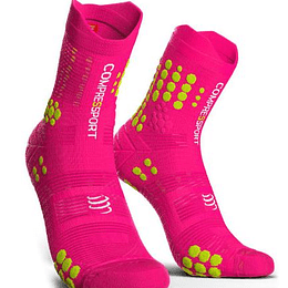 Calcetín Trail v3 Compressport - Rosado