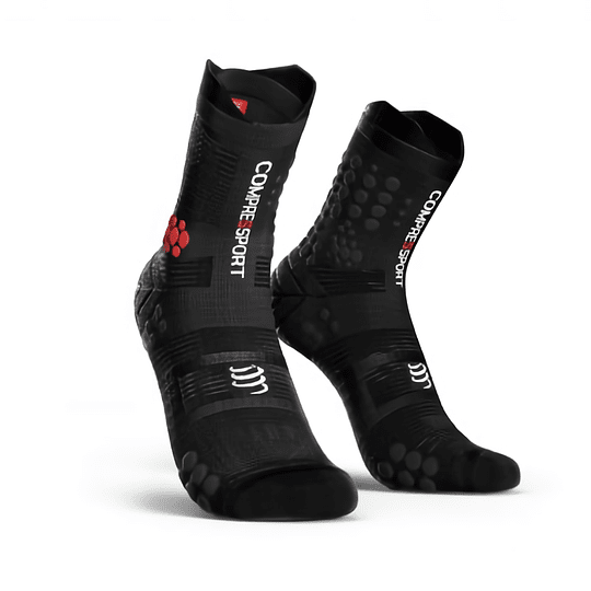 Calcetín Trail v3 Compressport - SMART NEGRO