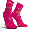 Calcetín Run High v3 Ultralight Compressport - Rosado