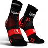 Calcetín Run High v3 Ultralight Compressport Negro/Rojo