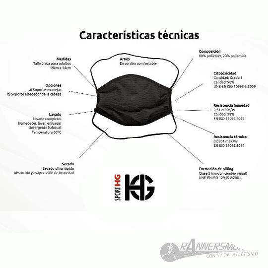 Mascarilla Reutilizable WHITEHEART SPORT HG - Niñas