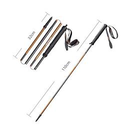 2 x Bastones Distance - Aleación fibra de carbono/aluminio,  plegables Aonijie (Par)