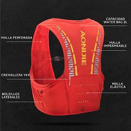 Chaleco de Hidratación Gale 5L  Red - Aonijie