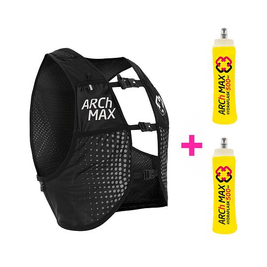 Chaleco de Hidratación HV-6 Unisex Black + 2 hydraflask 500ml