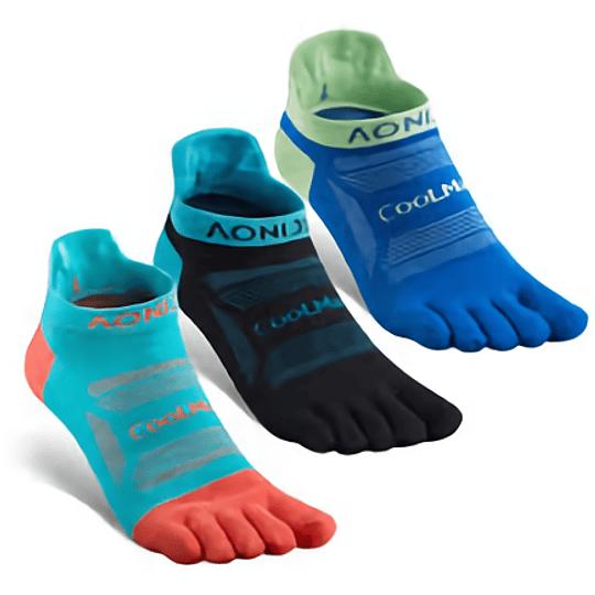 Socks D2 Trail Coolmax short  (3 pares) - Aonijie