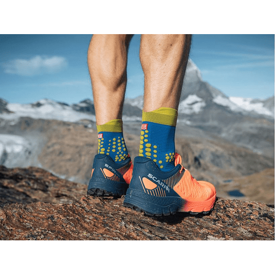 Calcetín Trail V3 Blue Lime - NEW