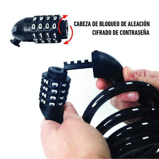CANDADO ESPIRAL ONWHEELS CON CLAVE 12X150