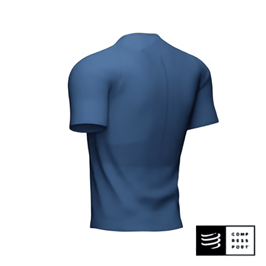 Trail Half Zip Fitted SS Top Blue