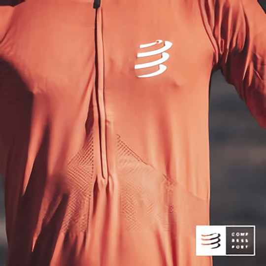 Trail Half Zip Fitted SS Top Red Clay - Compressport