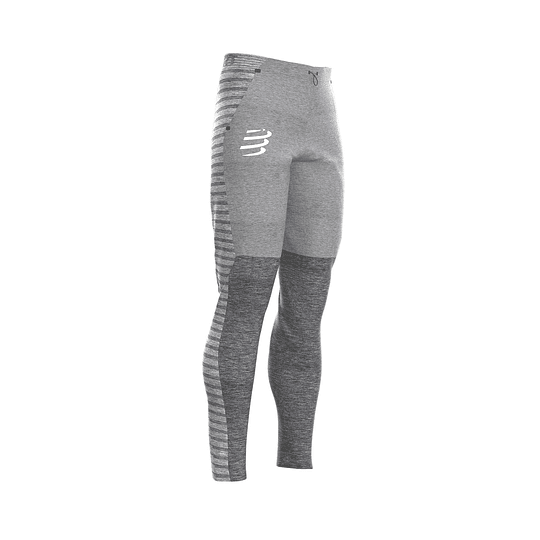 Pantalones Seamless Grey Melange - Compressport