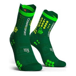 Calcetín Trail v3 Compressport - Green