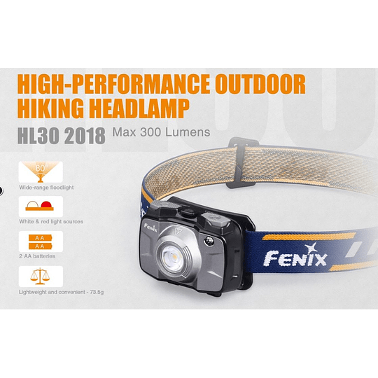 Linterna frontal HL30v2018 Fenix - 300 lúmenes