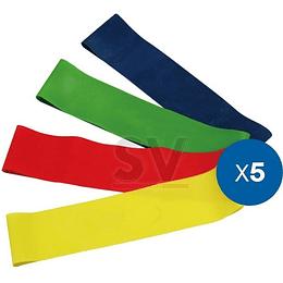 Pack bandas elásticas circulares 6 resistencias