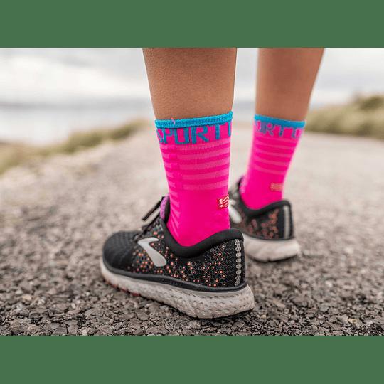 Calcetín Run High V3 Ultralight Fluo Pink - NEW