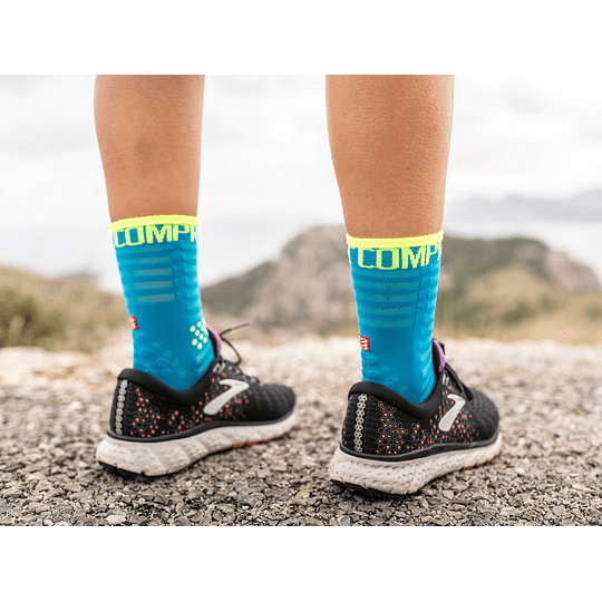 Calcetín Run High Ultralight Fluo/Blue - NEW