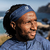 Headband On/Off Compressport Azul/Lima - NEW