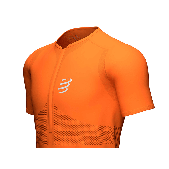 Trail Half-Zip Fitted SS Top Cúrcuma - NEW