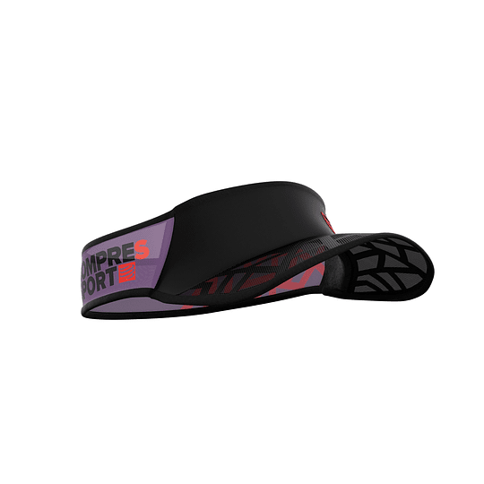 Visera Spiderweb Ultralight - Negro/Rojo