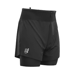 TRAIL 2 EN 1 SHORT NEGRO - NEW